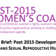 An Advocacy Brief: Post 2015 Development Agenda, Climate Change, and Sexual Reproductive Health and Rights