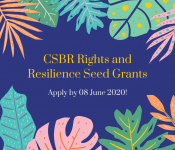 CSBR Rights & Resilience Seed Grants: Apply now!