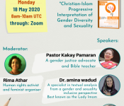 IDAHOBIT Webinar: Bringing Progressive Faith Voices towards Diverse Genders and Sexualities (18 May, 8am UTC)